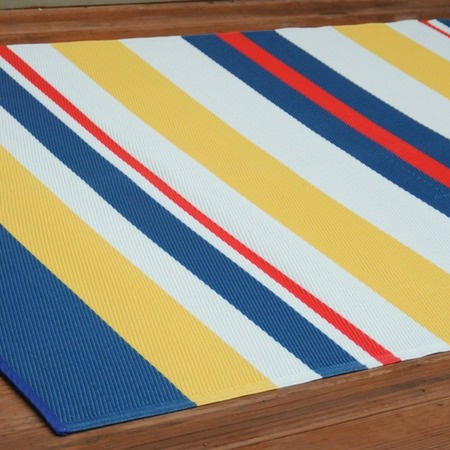 I pinned this 5' x 8' Nautical Stripe Outdoor Rug from the Color Garden event at Joss & Main!