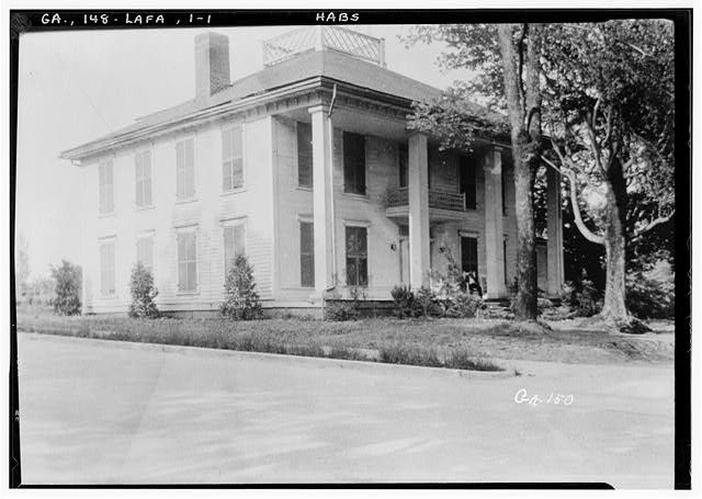 1.  Historic American Buildings Survey Harold Bush-Brown, Photographer Enlarged by L.D. Andrew June, 12, 1936 FRONT CORNER VIEW - Marsh-Warthen House, LaFayette, Walker County, GA