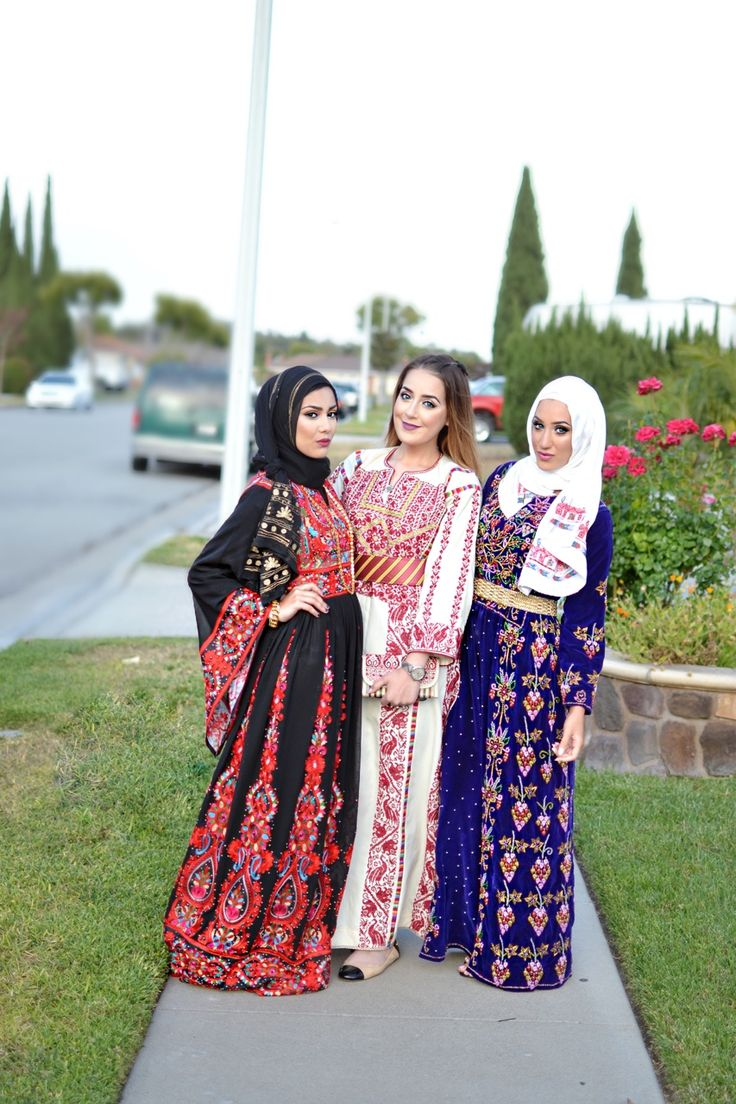 In traditonal Palestinian thobes ❤️