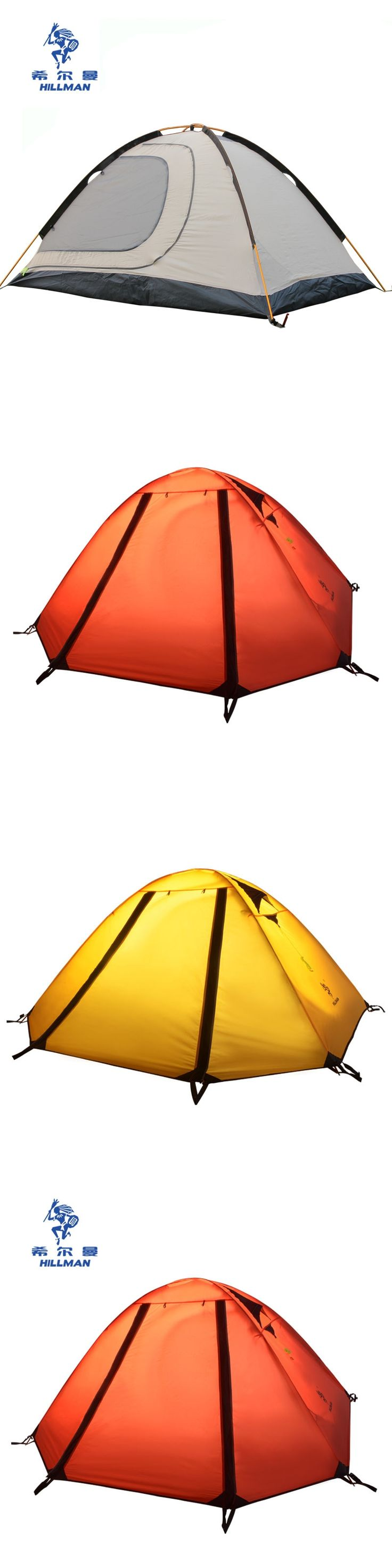 Hillman Muyun  light aluminum pole double layer outdoor mountain camping tent 2person anti-storm high quality tent