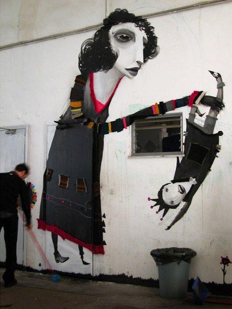 Alexandros Vasmoulakis: Artistalexandro Vasmoulaki, Graffiti Artworks, Athens Greece, 2006 Graffiti, Urban Art, Acrylics Fabrics Rhinestones, Street Art, Art Installations, Streetart