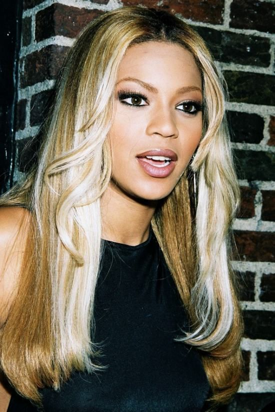 Beyonce with a tonged, white-blonde look from the 90s! # ...