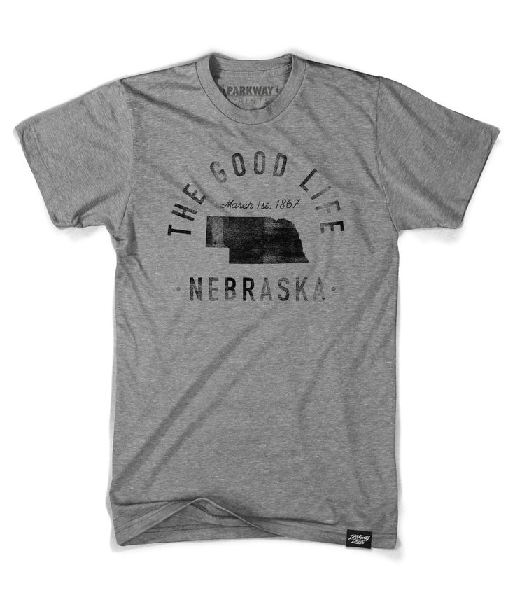 Could continue with our state them imposter... The Good Life - Bluebonnet - State of Nebraska Motto Shirt