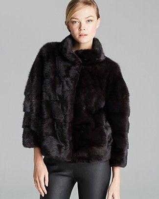 Maximilian Short Mink Coat | Bloomingdale's
