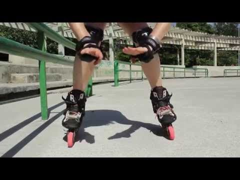 Como freiar usando o freio em Cunha em patins inline. - YouTube