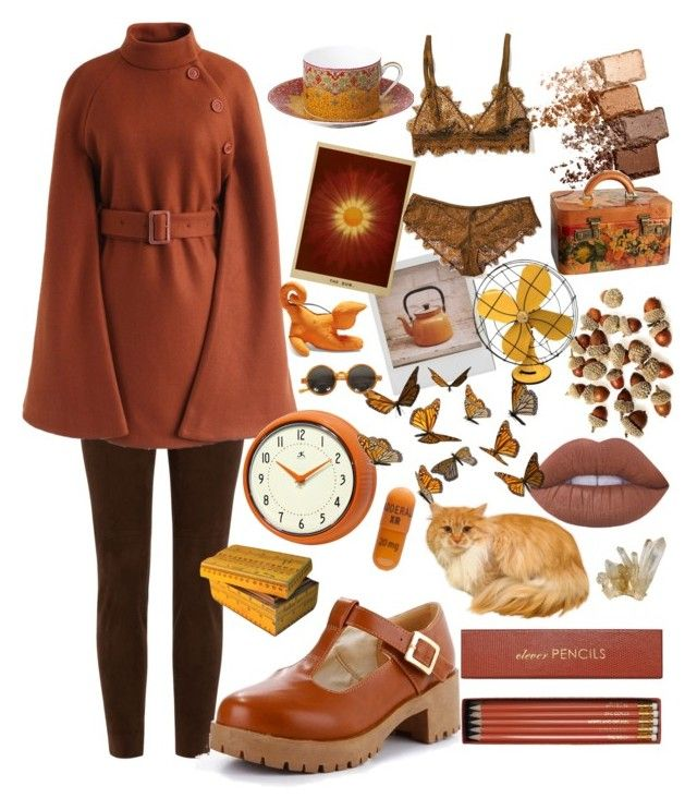 """""""Autumn Feeling"""" by nova-super on Polyvore featuring Polaroid, Ralph Lauren Black Label, Chicwish, Philippe Deshoulières, Bergdorf Goodman, Maybelline, Sloane Stationery, Patricia Nash, Loewe and Dessous"""