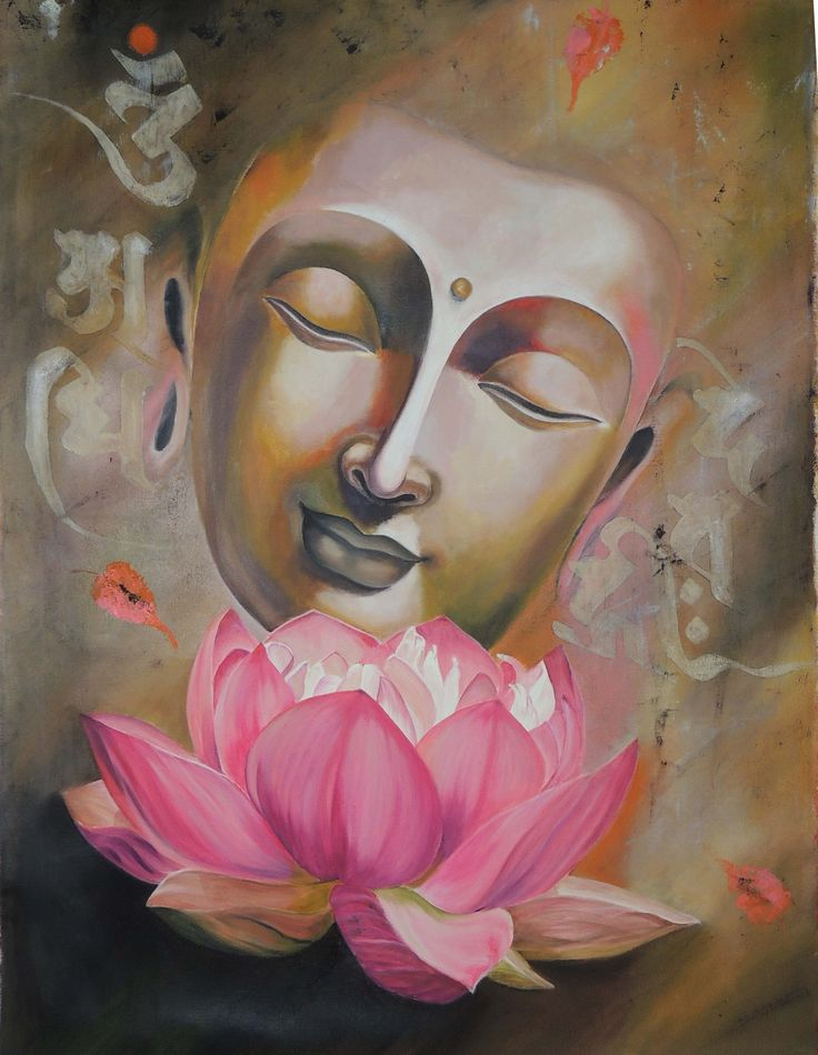 This Beautiful painting of lord Buddha's face is depicting subtle beauty and peace. Artist wants to give a peace message through her painting as Lord Buddha &am