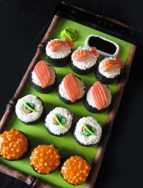 #Sushi Mini #Cakes by ArtisanCakeCompany, via Flickr - For all your cake decorating supplies, please visit craftcompany.co.uk