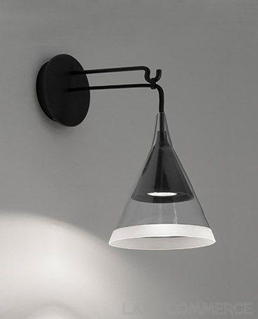 lampes de chevet murales noire -applique - artemide vigo