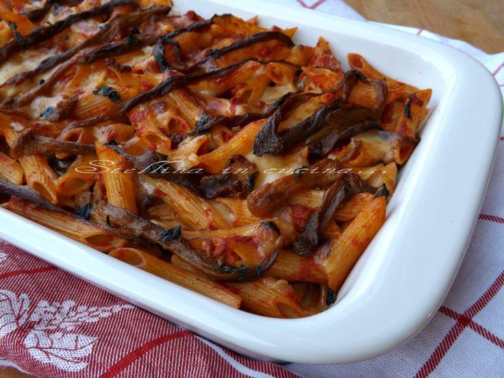 Pasta al forno con peperoni