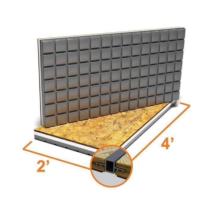 Amdry 2 ft x 4 ft insulated osb subfloor panel the