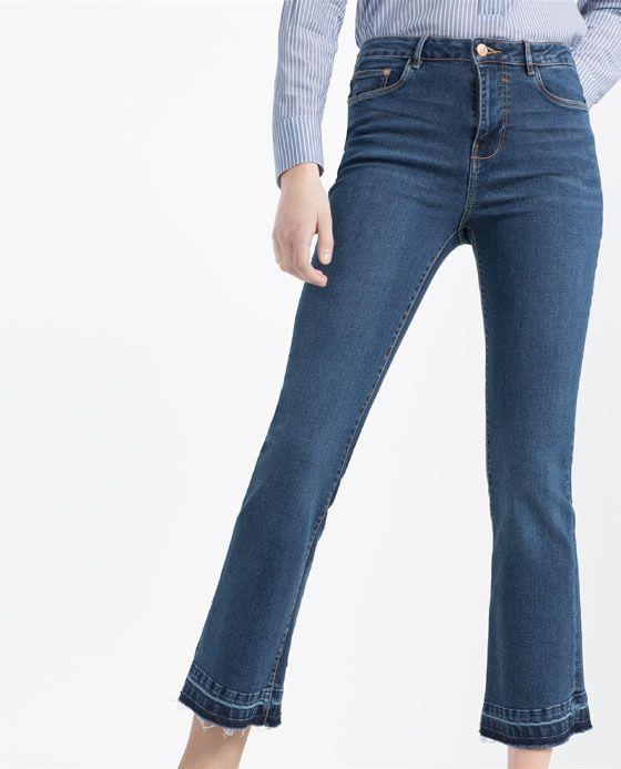 303c5895 Imagen 2 de PANTALÓN DENIM MINI FLARE de Zara | SS 2016 | Jeans, Flare jeans,  Kick flare jeans