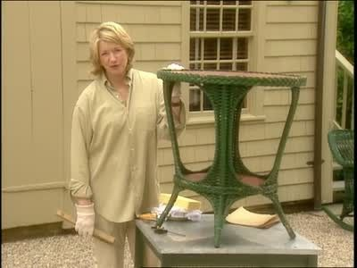 Martha Stewart offers tips for dealing with vintage wicker furniture bought at tag sales.