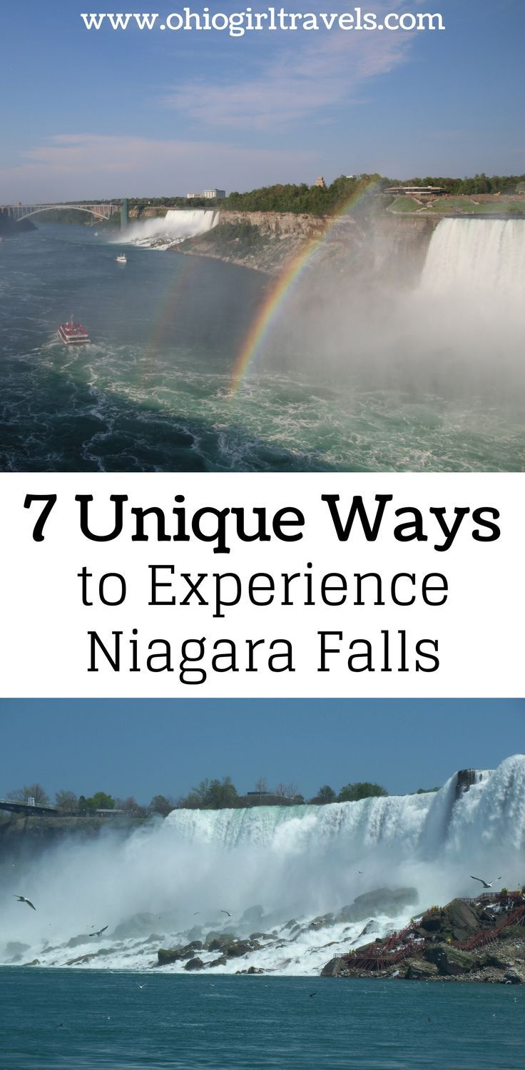 Everyone knows Niagara Falls, but how do you decide where to see the falls from? This guide will show you 7 unique ways to see Niagara Falls. You'll definitely want to save this to your travel board when you're done reading it. This guide to Niagara Falls will change the way you plan your trip to Niagara Falls.