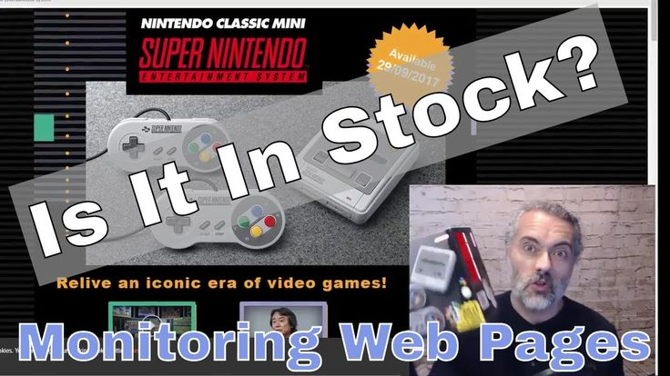 How to find SNES Nintendo Classic Mini in stock (Using Software Testing Skills to Monitor Web Sites) https://youtu.be/_uoQS0eolfc