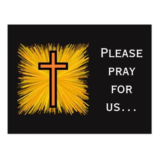 Prayer Request + Orange and Black Christian Cross