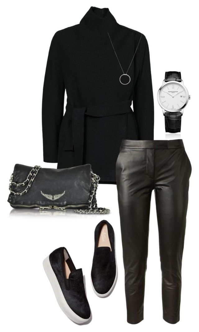 """BLACK"" by trendsy on Polyvore featuring Baume & Mercier, Filippa K, Tamara Mellon, Roberto Coin, Zadig & Voltaire and Trendsy"