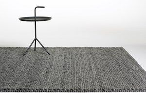 HAY Peas Carpet Dark Grey Melange 80x140