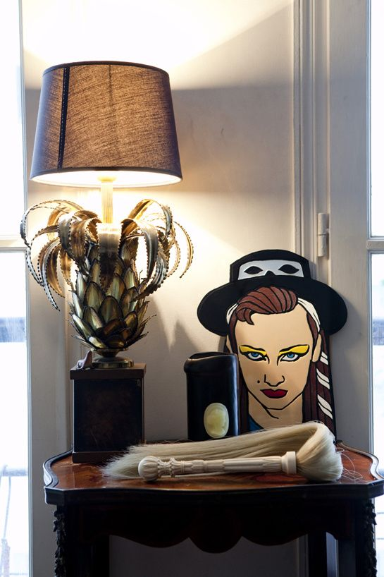 Boy George, Cire Trudon, ponytail and pineapple