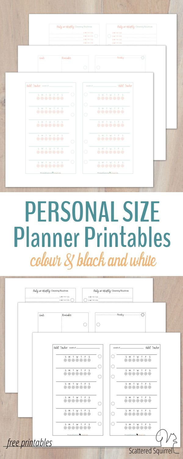 I've been playing around in a personal size planner for a few months now, and these personal size planner printables are the perfect jumping off point.