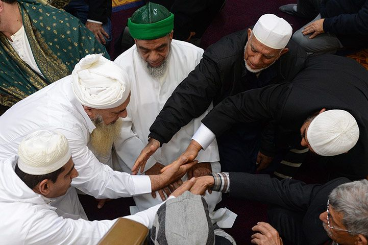Sydney, Australia: Members of the city's Muslim community celebrate Eid al-Fitr with morning prayers at the Lakemba mosque