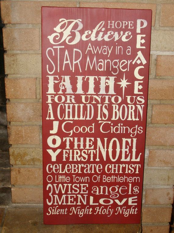 Love this!Christmas Signs, Christmas Art, Primitive Christmas, Primitives Wood, Christmas Subway, Christmas Decor, Primitive Wood Signs, Christmas Primitives, Wooden Signs