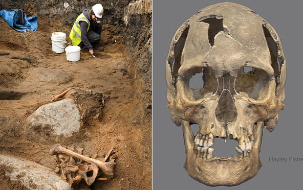 Skeleton of a 16th Century Pirate found under an Edinburgh primary school.