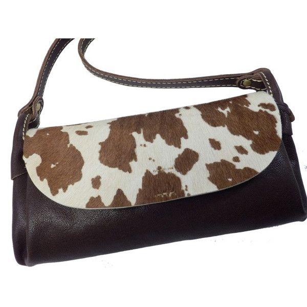 牛柄フラップショルダーバッグ cham 国産 イタリア産毛付き牛革使用