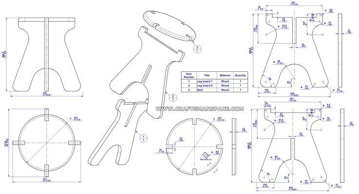 Collapsible stool plan