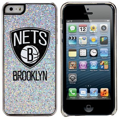 Brooklyn Nets iPhone 5/5s Bling Thinshield Snap-On Case – Silver