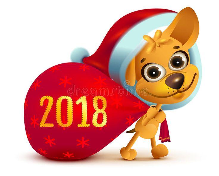 симво-же-той-собаки-го-а-смешная-собака-санты-носит-бо-ьшую-сумку-по-95021629.jpg (800×643)
