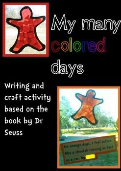 my many colored days writing activities