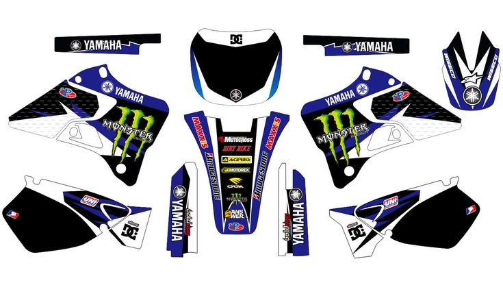 MONSTER YAMAHA YZ 125-250 1996-2001 DECAL STICKER GRAPHIC KIT | eBay