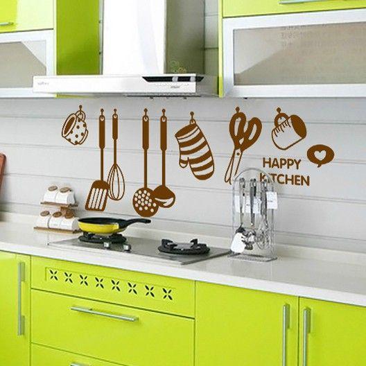 105*40cm( 42*12inch) cozinha adesivos de parede vinil removível home decalques da parede cozinha decoração decoração wallpapers US $5.98