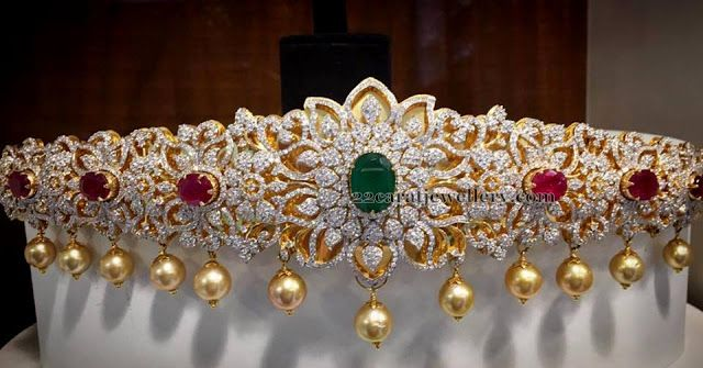 Rich Diamond Vaddanam by SRJ - Jewellery Designs