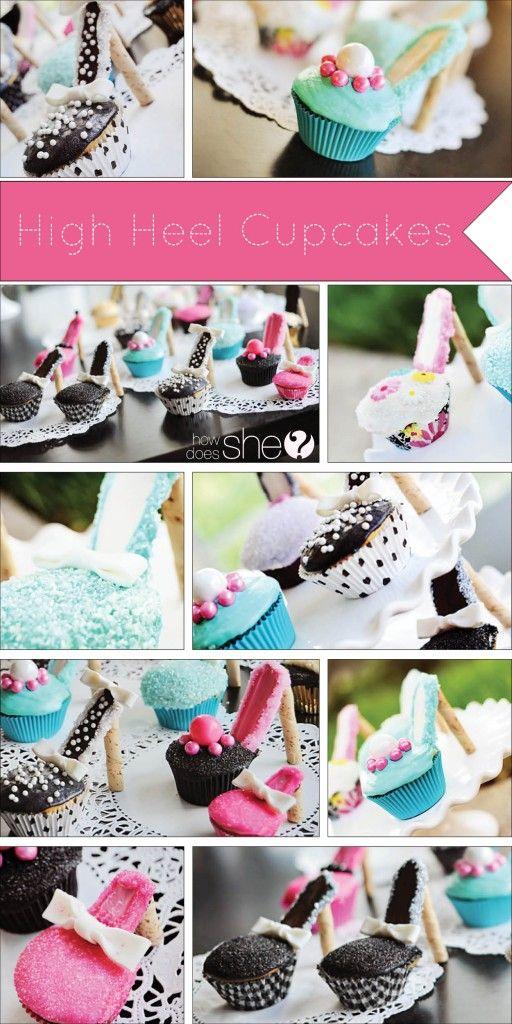 High Heel Cupcake tutorial (alyshaHighHeelCupcakes_Collage): Cupcake Tutorial, High Heel Cupcakes, Alyshahighheelcupcakes Collage, Birthday Parties, High Heels Cupcakes, Parties Ideas, Bridal Shower, Alyshahighheelcupcak Collage, Cupcakes Tutorials