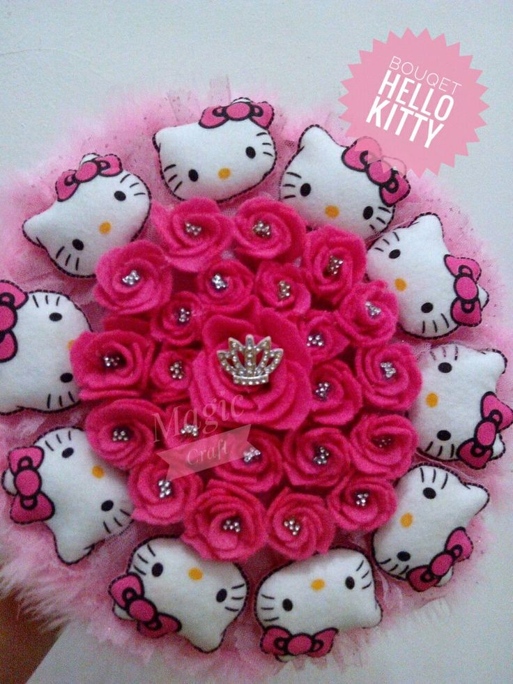 Bouqet doll hello Kitty