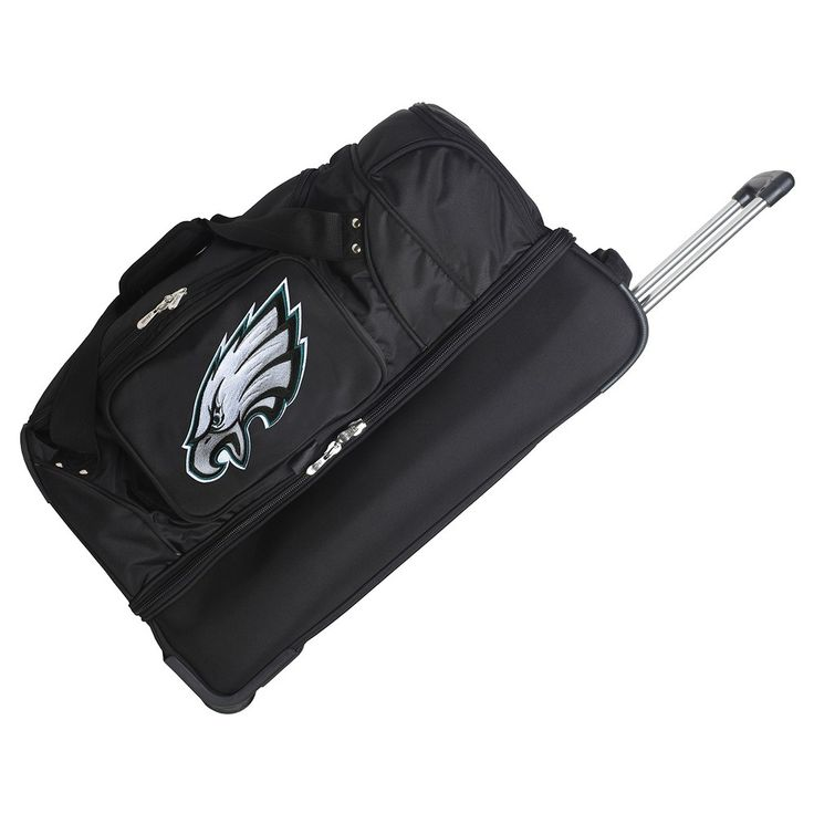 NFL Philadelphia Eagles Mojo 27 Rolling Drop Bottom Duffle Bag