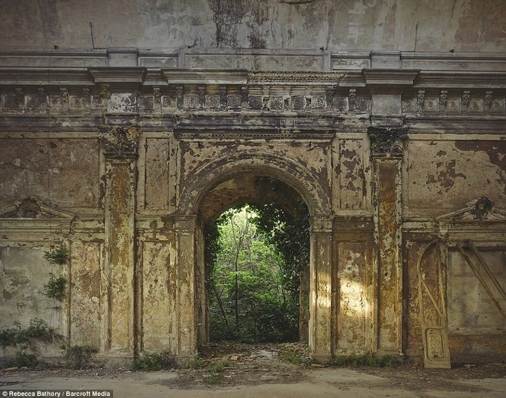 Captioned 'Doorway to a New Realm' by the photographer, this image shows the entrance to an abandoned spa taken in Italy, 2015