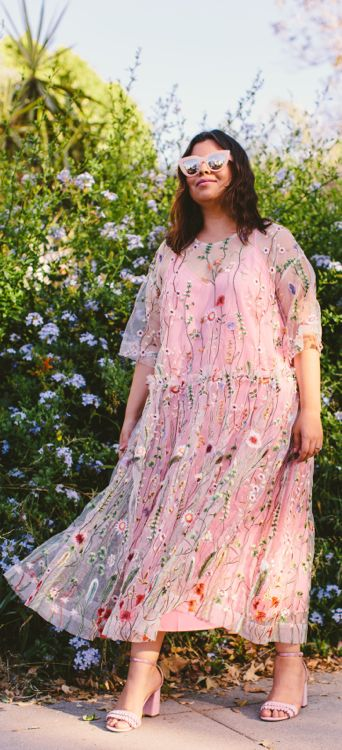 Garden party vibes. Outfit idea: Floral embroidered dress trend. Summer <3