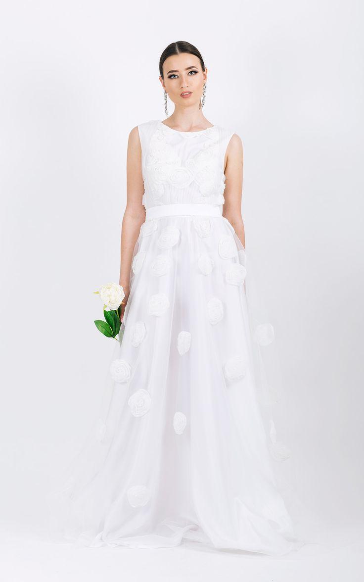 Long evening gown       A-line shape skirt     <span...