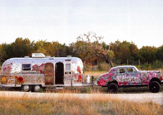 Magnolia Pearl, the prettiest Airstream trailer that ever was.