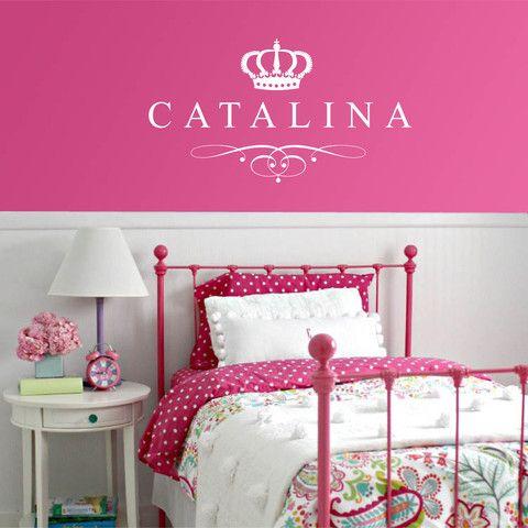 Vinilo con tu nombre. modelo Catalina
