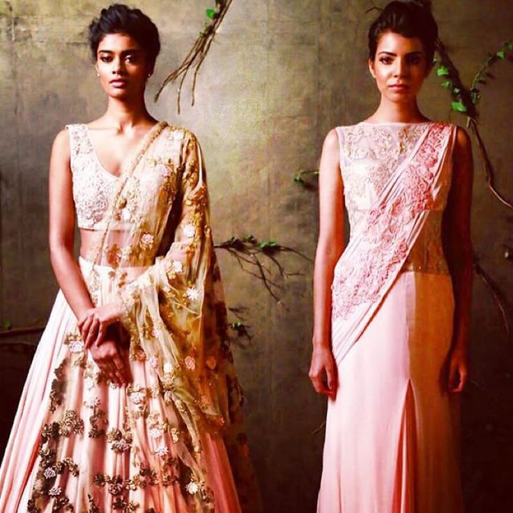 New season Shyamal & Bhumika a tastes of what's to come. #bibilondon #shyamalbhumika #lengha #drape #pastels #pink #aw15 #bridalfashion #designer call us 07931 999111