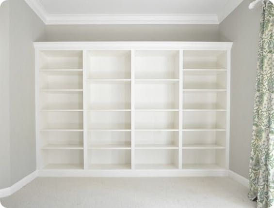 For a book lover, there's nothing more beautiful, and more satisfying, than a huge wall of built-in bookcases