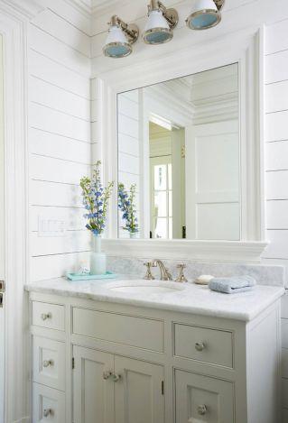 Best inspire coastal nautical bathroom design & decor ideas (95)