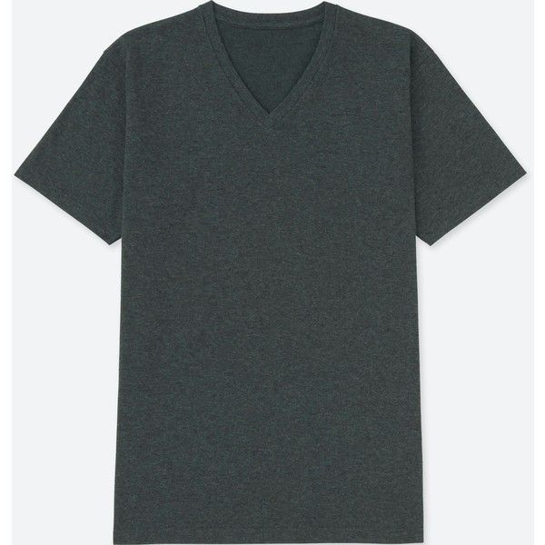 UNIQLO Men's Packaged Dry V-Neck Short-sleeve T-Shirt ($5.90) ❤ liked on Polyvore featuring men's fashion, men's clothing, men's shirts, men's t-shirts, dark gray, mens short sleeve t shirts, men's v neck shirts, mens short sleeve cycling jersey, uniqlo men's t shirts and uniqlo men's shirts