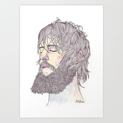 Ben Bridwell  Art Print by Jesse Robinson Williams - $22.88