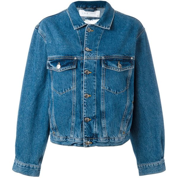 Iro - distressed denim jacket - women - Cotton - 40 ($371) ❤ liked on Polyvore featuring outerwear, jackets, blue, distressed denim jacket, cotton jacket, blue jackets, blue cotton jacket and iro jacket