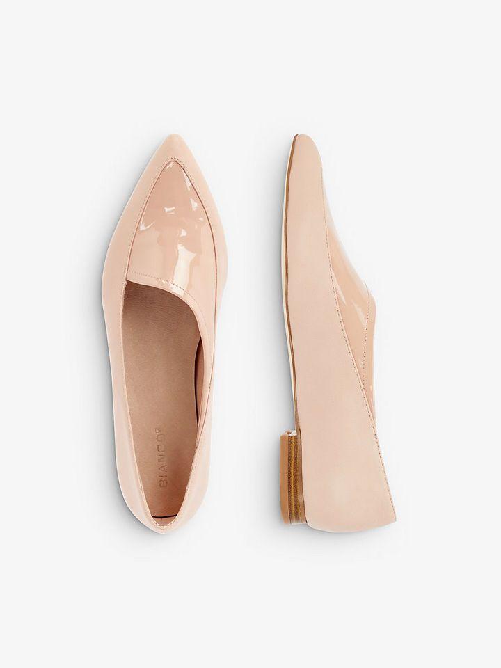 Bianco Asymmetrische Ballerinas per Rechnung | Ballerinas
